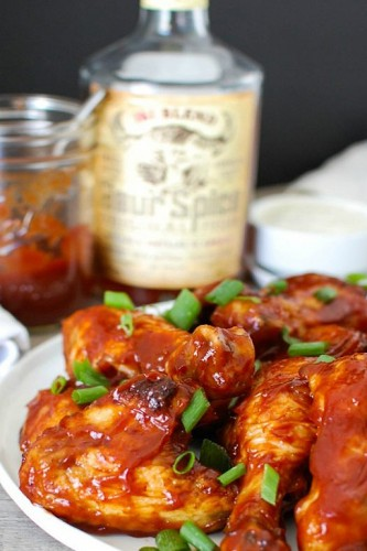 Whiskey Barbecue Baked Chicken Wings